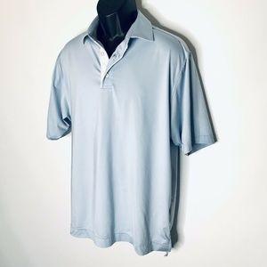 Footjoy Polo Shirt Mens M Medium Blue Performance